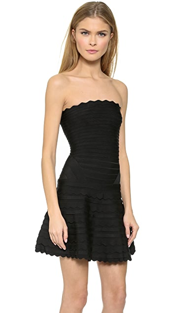 Herve Leger Strapless Dress
