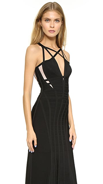 Herve Leger Camelle Gown