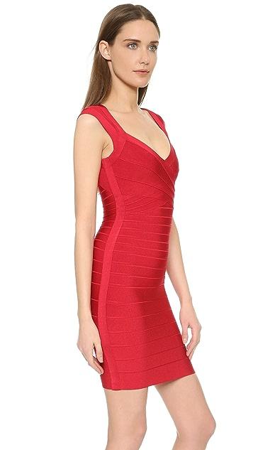 Herve Leger Sarai Sleeveless Dress