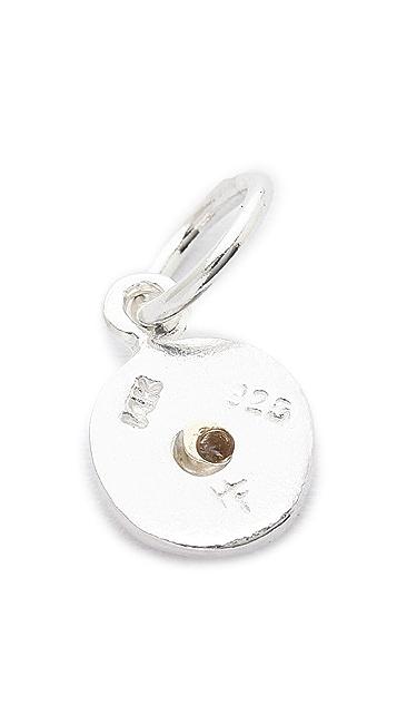 Helen Ficalora Baby Disc With Diamond Charm