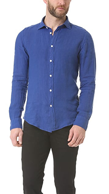 Hartford Slim Fit Linen Shirt