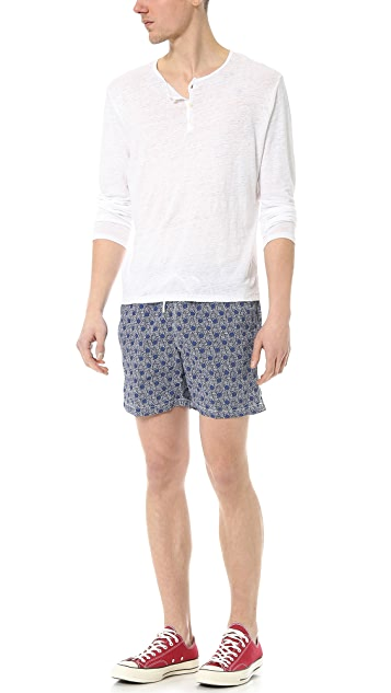 Hartford Liberty Print Swim Trunks
