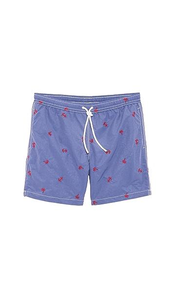 Hartford Pineapple Swim Trunks