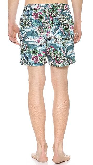 Hartford Hawaiian Floral Swim Trunks