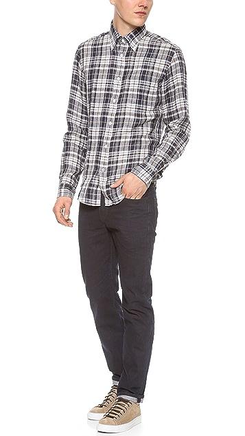 Hartford Woven Linen Sport Shirt