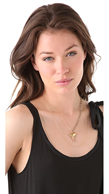 Heather Hawkins Double Layer Shark Tooth Necklace