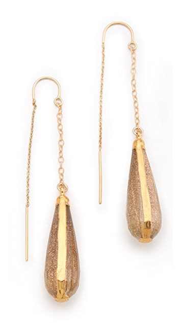 Heather Hawkins Rutilated Quartz Earrings
