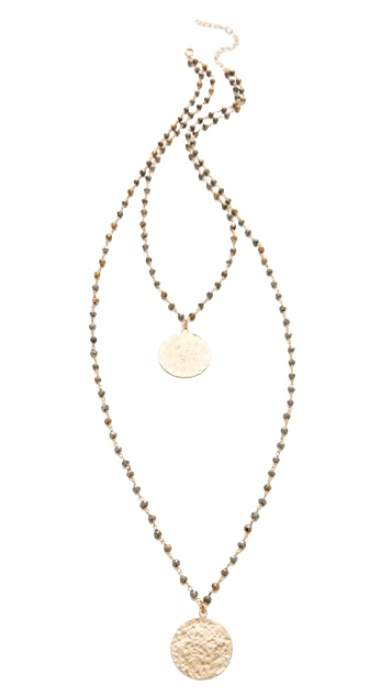 Heather Hawkins Hammered Coin Necklace