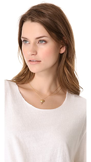 Heather Hawkins Layered Shark Tooth Necklace