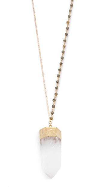Heather Hawkins Crystal Point Necklace