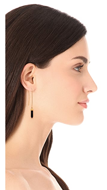 Heather Hawkins Pencil Cut Thread Earrings