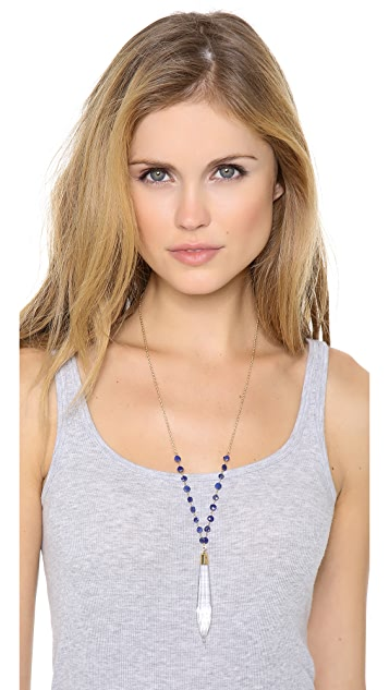 Heather Hawkins Lapis Chandelier Necklace
