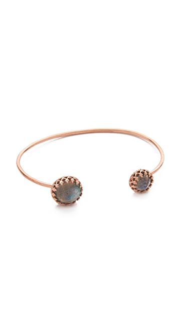 Heather Hawkins Splendor Spike Cut Bangle Bracelet