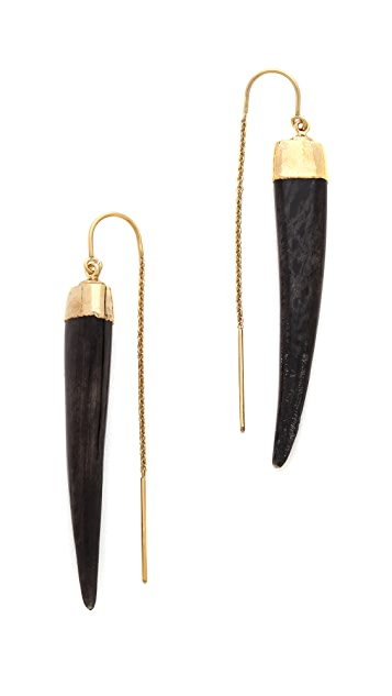 Heather Hawkins Bone Tusk Earrings