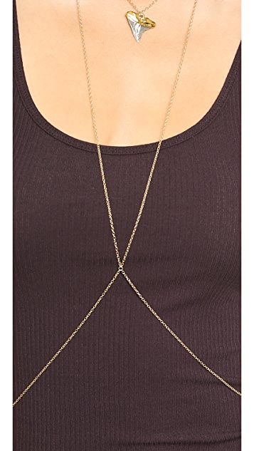 Heather Hawkins Shark Tooth Body Chain