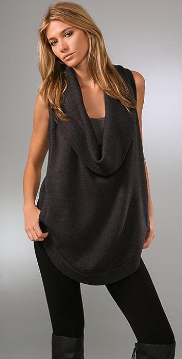 HHH by Haute Hippie Cowl Sweater Vest