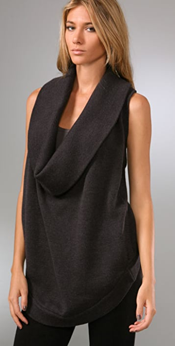 HHH by Haute Hippie Cowl Sweater Vest