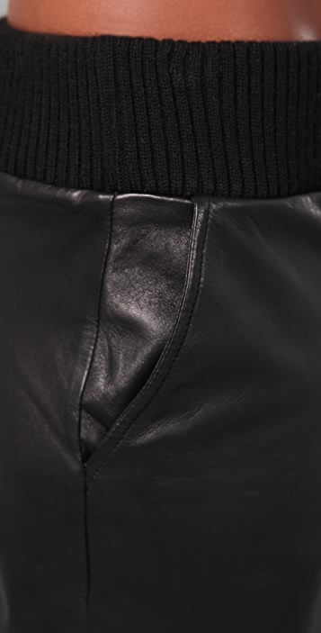 HHH by Haute Hippie Leather Sweatpants
