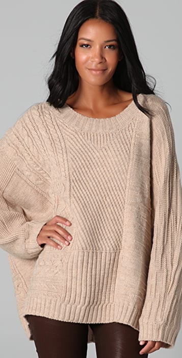 HHH by Haute Hippie Layer Up Oversized Sweater