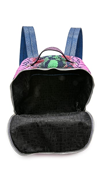 House of Holland Snake Embossed Backpack