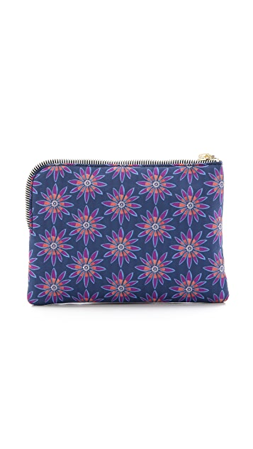 House of Holland Embroidered Nylon Pouch
