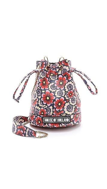 House of Holland Mini Bucket Bag