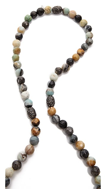Hipchik Couture Agate Bead Y Necklace