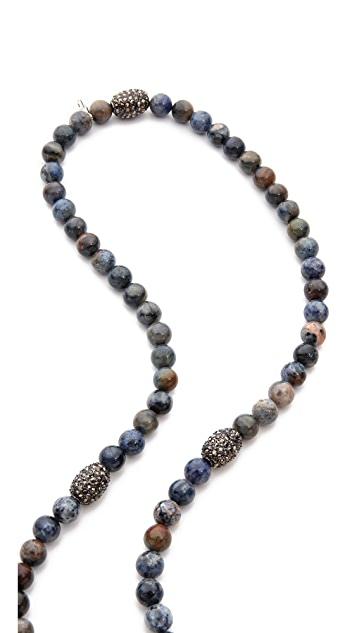 Hipchik Couture Agate Bead Necklace