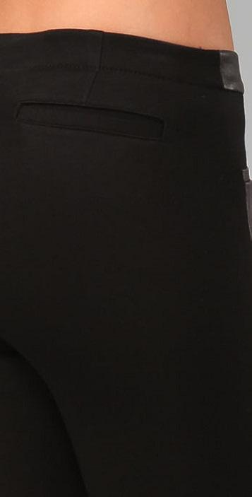 Helmut Lang Jersey & Leather Combo Leggings