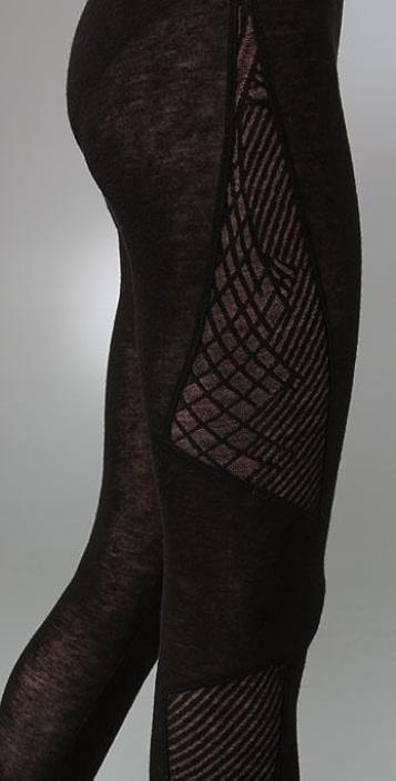 Helmut Lang Geometric Lace Leggings