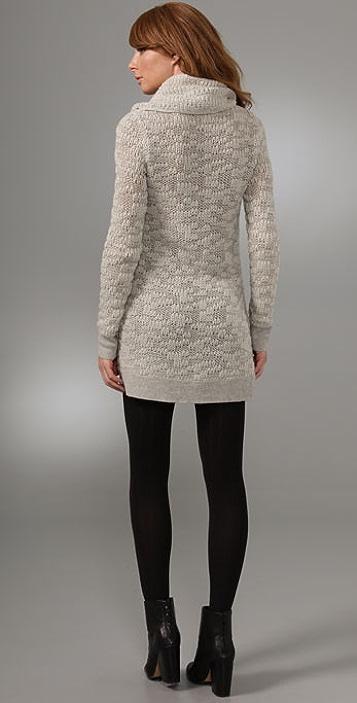 Helmut Lang Cowl Neck Sweater Dress