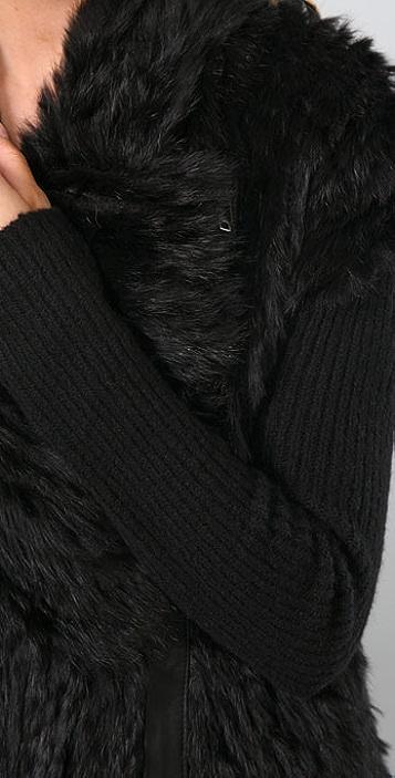 Helmut Lang Fur Sweater Jacket