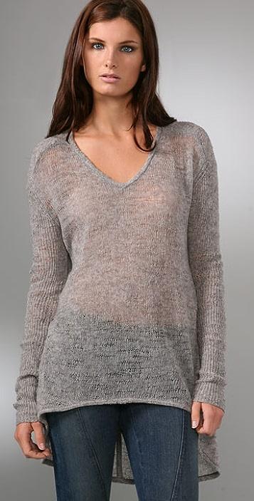 Helmut Lang Uneven Stitch Sweater