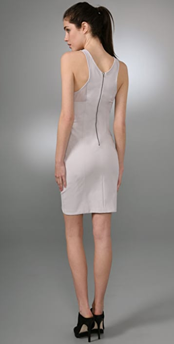 Helmut Lang Mesh Cutout Tank Dress