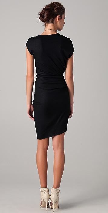 Helmut Lang Asymmetrical Sleeve Dress