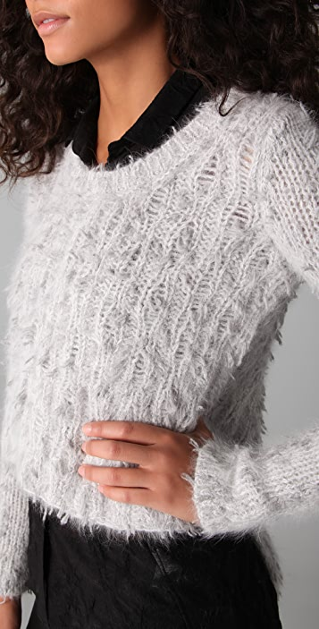 Helmut Lang Cropped Pullover Sweater