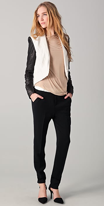 Helmut Lang Skinny Slouchy Trousers