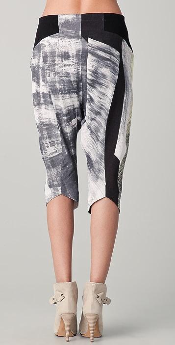 Helmut Lang Parallel Print Drawstring Pants