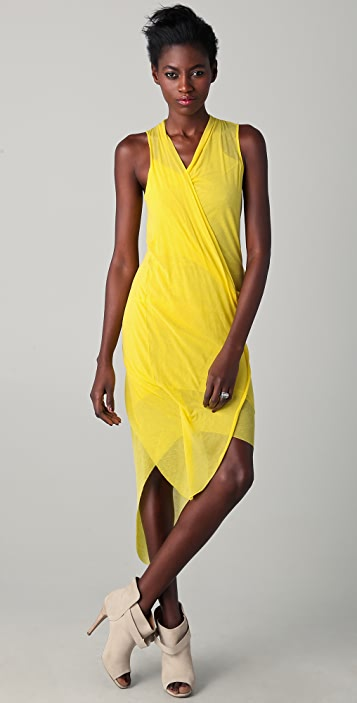 Helmut Lang Sleeveless Draped Dress