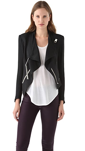 6f4f66add1a51 Helmut Lang Cropped Jacket with Contrast Trim