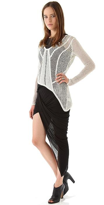 Helmut Lang Slack Asymmetrical Skirt