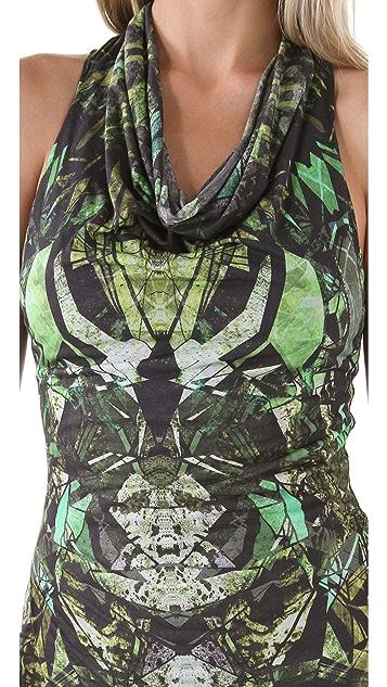 Helmut Lang Cicadae Print Maxi Dress