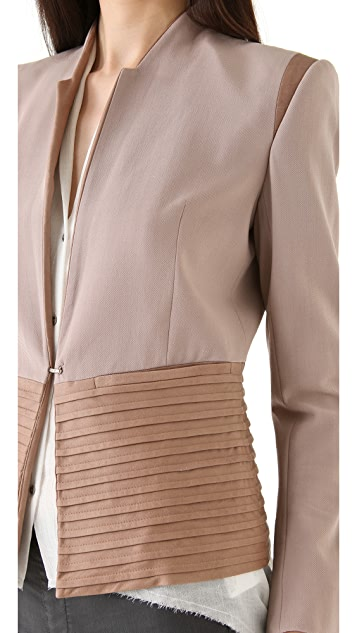 Helmut Lang Leather Bottom Combo Jacket