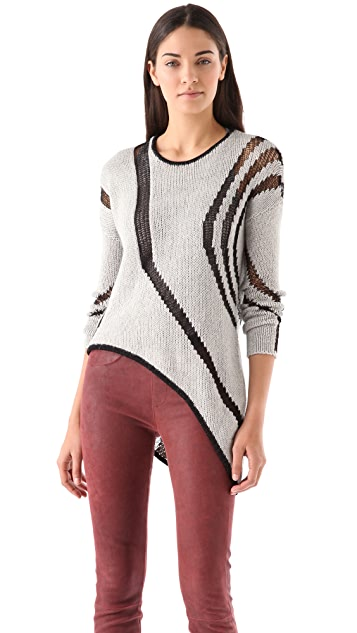 Helmut Lang Textured Intarsia Sweater