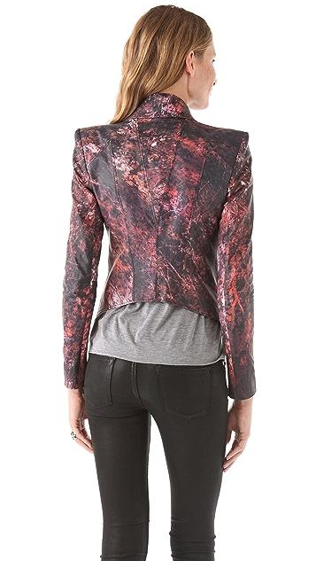 Helmut Lang Midnight Floral Leather Jacket