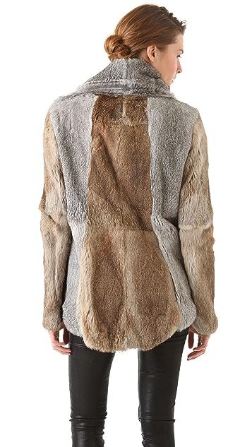 Helmut Lang Rabbit Fur Jacket