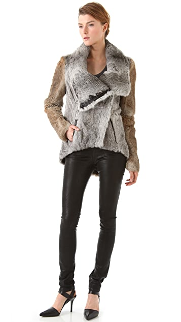 Helmut Lang Rabbit Fur Jacket