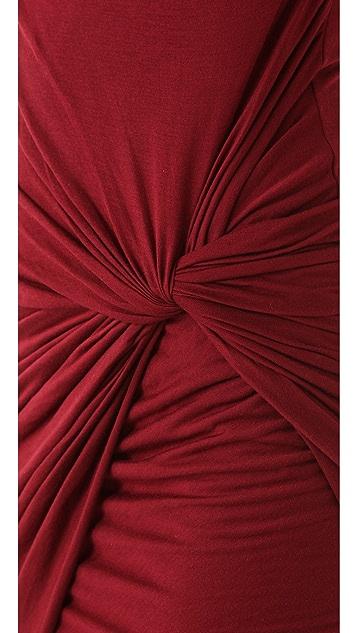 Helmut Lang Side Knot Jersey Dress