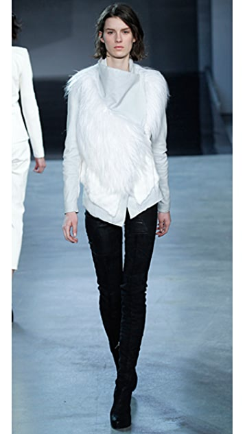 Helmut Lang Ironed Goat Hair Jacket
