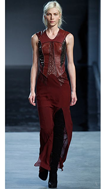 Helmut Lang Mixed Media Gown